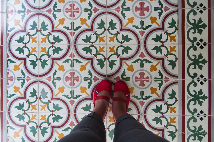 Floor tiles at Sultan's Palace in Yogyakarta (Jogjakarta), Indonesia  cc. @Indonesia Travel