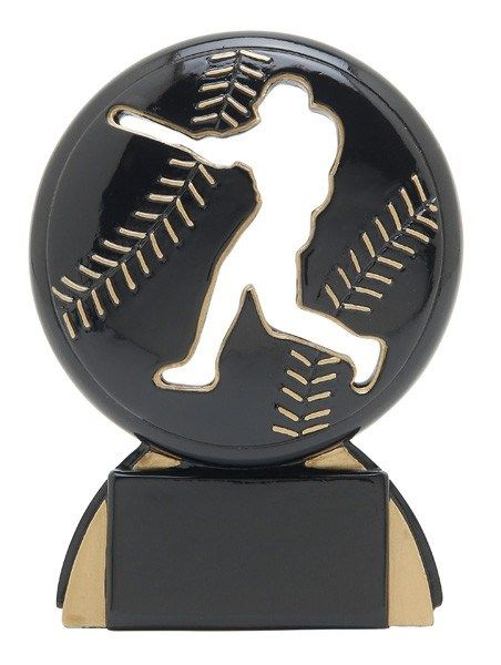 Shadow Resin Baseball Trophy - Multiple Sizes