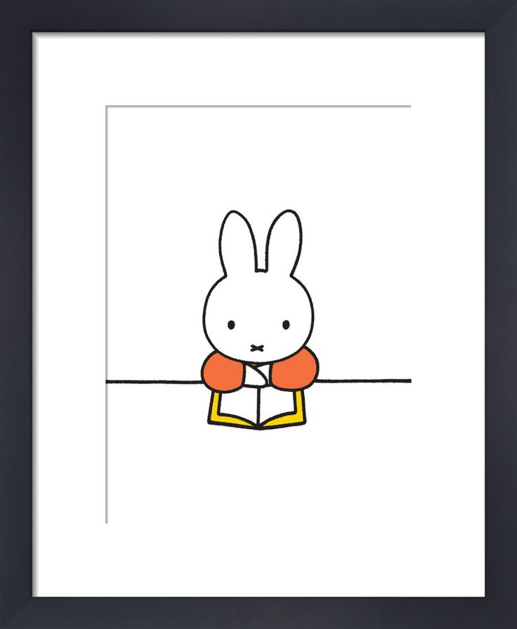 Miffy Reads Art Print by Dick Bruna at King & McGaw