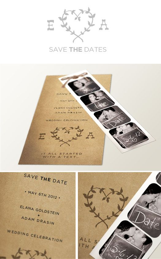 save the date - i like the fact that its personal and isn't a magnet.  also love the graphic and photo booth pics