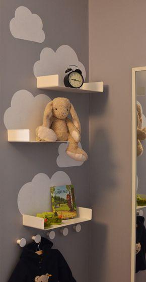 Estantes nubes. Perchero pared Apples & Beavers | from Ikea (Enudden series)