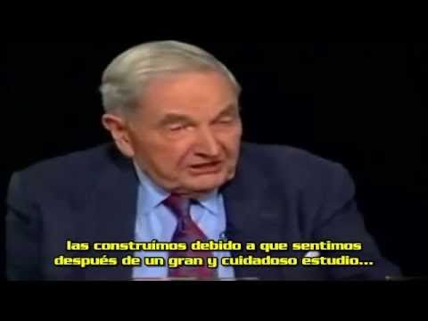 Charlie Rose y David Rockefeller hablaan sobre las Torres Gemelas - YouTube