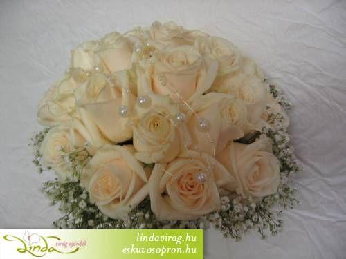 Menyasszonyi csokrok, fotó galéria - esküvői virágdíszítés
