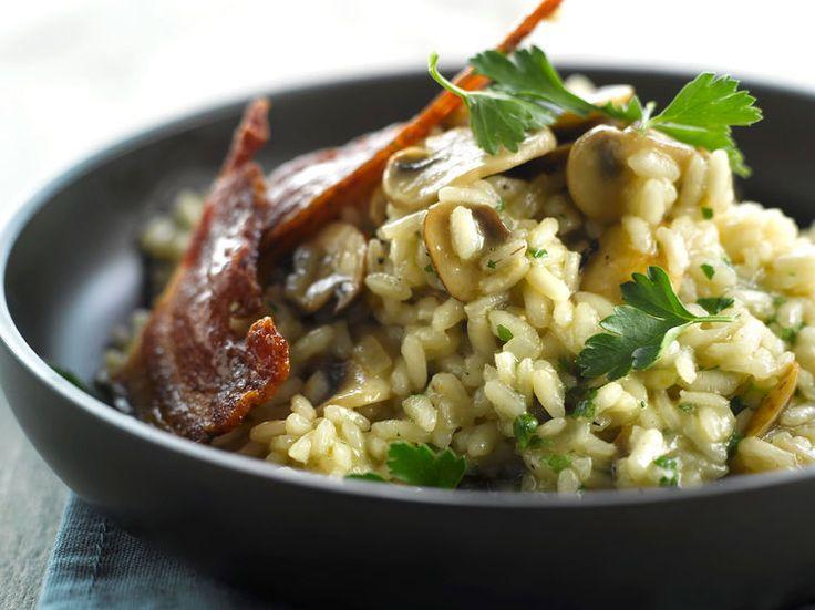 Découvrez la recette Risotto aux champignons sur cuisineactuelle.fr.