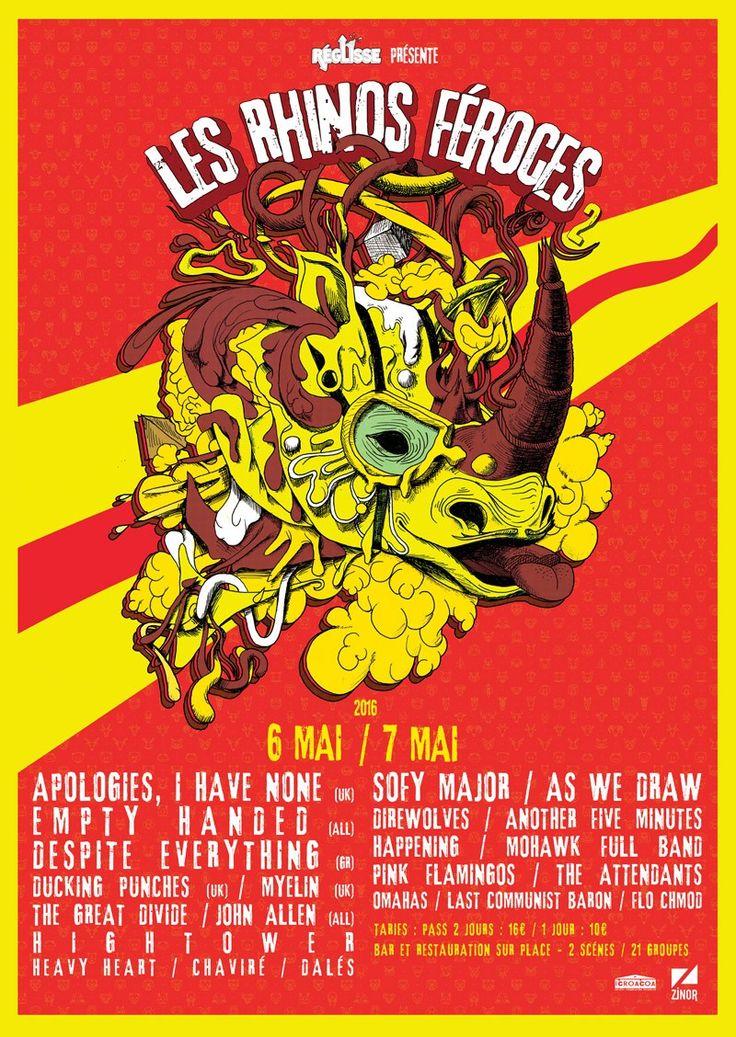 Festival les Rhinoféroces 2016 | JulienG graphiste Webdesigner Vendée Nantes