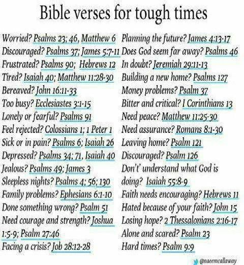 #quotes  Bible verses for tough times.