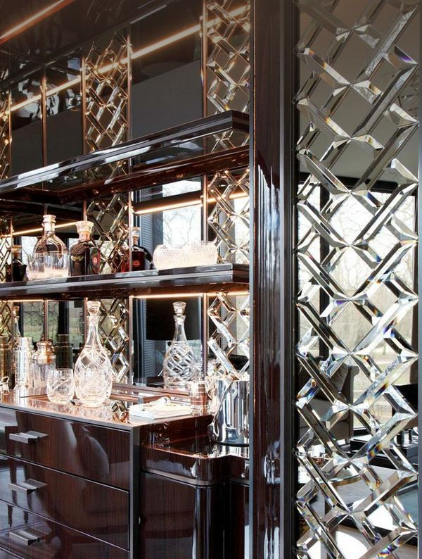Best Of Mirror with Glass Shelves for Bar