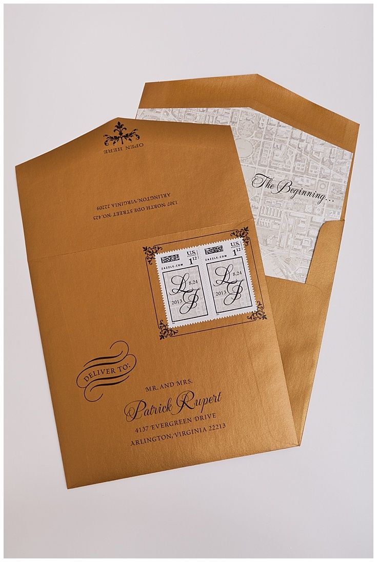 102 Best Unique Envelopes Images On Pinterest Gold Weddings