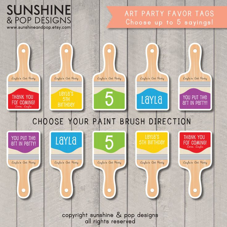 17 Best Images About Artist Party Ideas On Pinterest