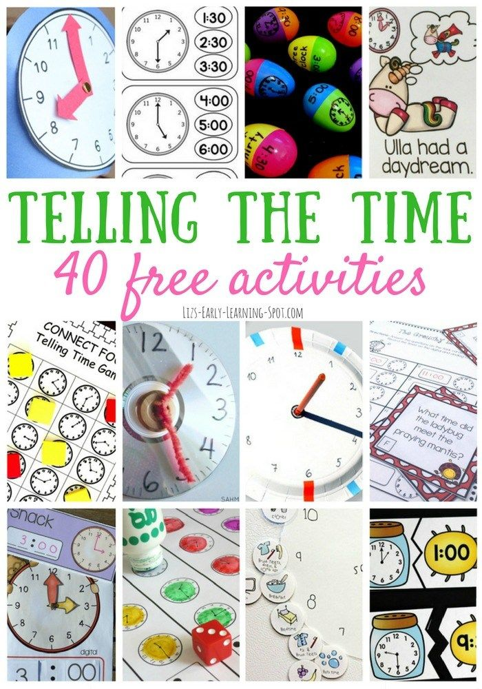 40 Telling the Time Activities