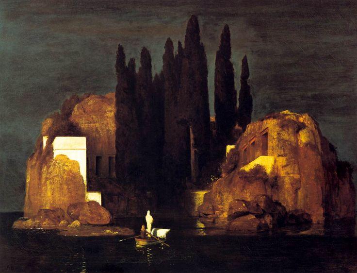 Arnold Böcklin . The Isle of the Dead, 1880. WikiArt.org