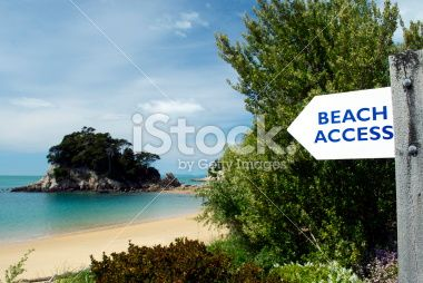 Beach Access on Kaiteriteri, Spring Royalty Free Stock Photo