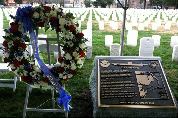 New memorial dedicated to USS Monitor crew.