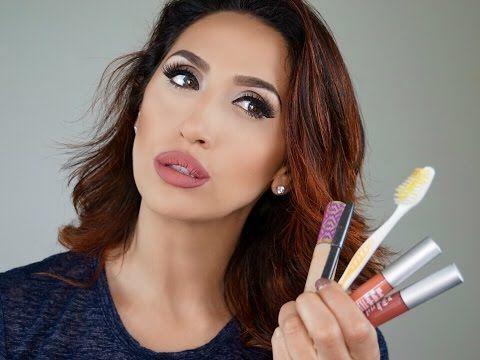 Как увеличить губы без операции и инъекции I Сделать губы больше с помощью макияжа - YouTube