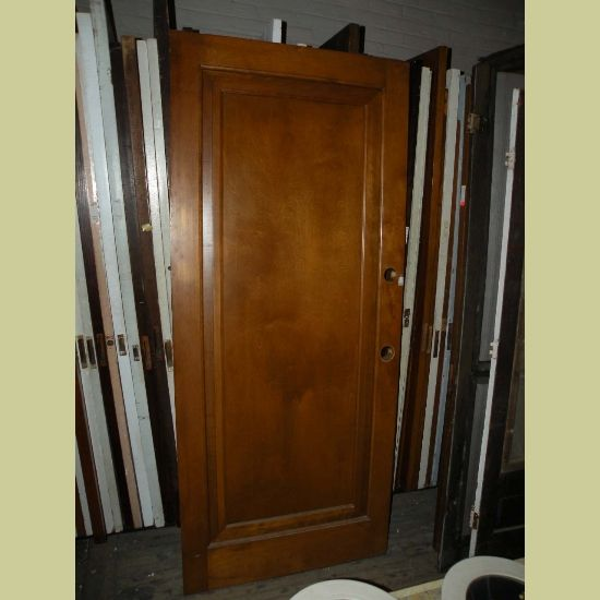 wide vintage one panel miracle type door in light stain. Black Bedroom Furniture Sets. Home Design Ideas