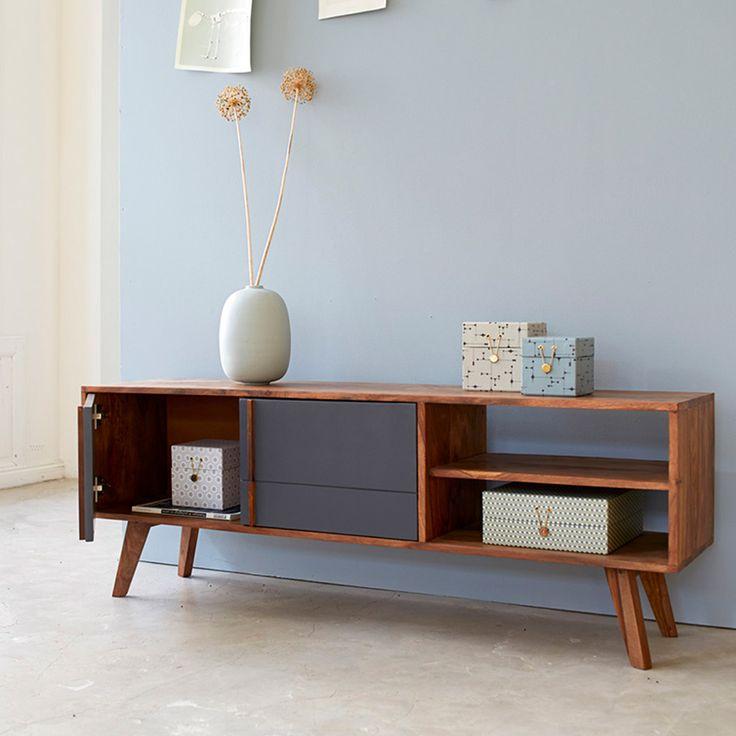2-Door TV Cabinet - Gray