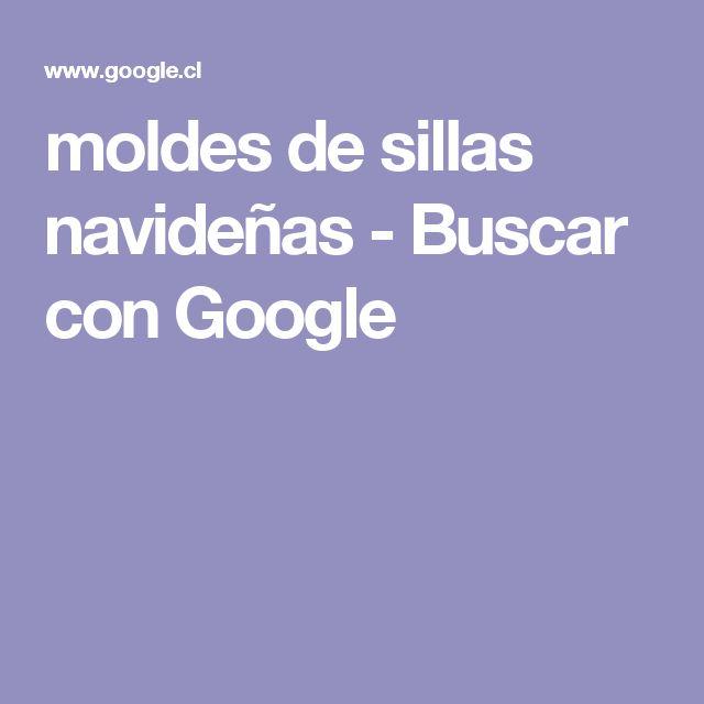 moldes de sillas navideñas - Buscar con Google
