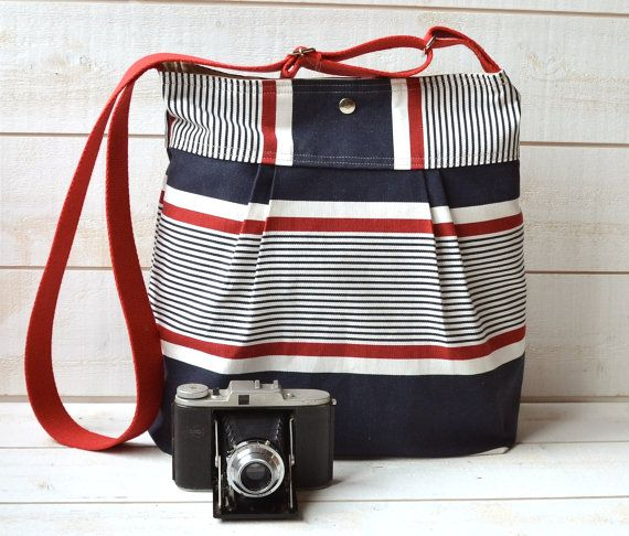 Loved it, got it.: Ecru Pleated, Navy Red, Water Proof, French Messenger, Diapers Bags, Bags Blue, Proof Diapers, Blue Denim, Denim Navy