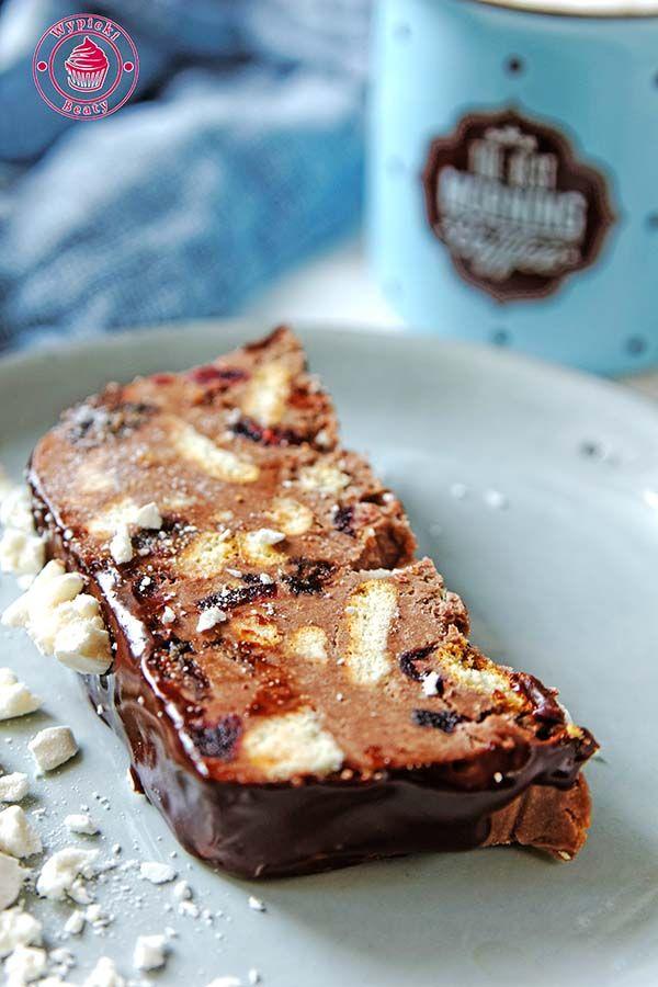 blok czekoladowy z herbatnikami