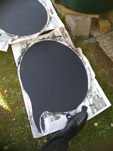 avec peinture ardoise pour que les invités se prennent en photo en laissant un…
