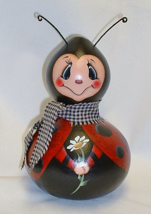 Ladybug Gourd Hand Painted by FromGramsHouse on Etsy, $18.00