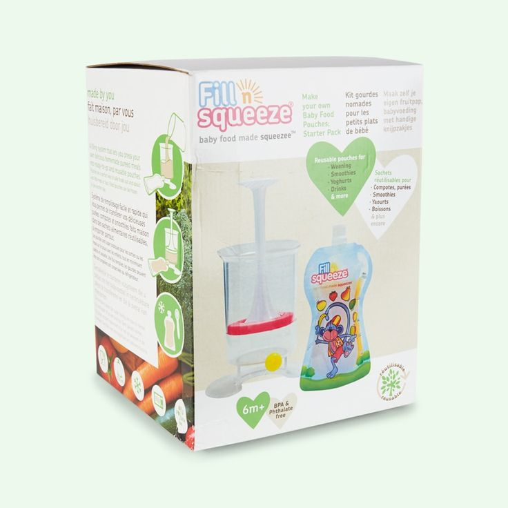 Buy the Fill n Squeeze Weaning Pouch Starter Pack. Tried & Tested by KIDLY Parents