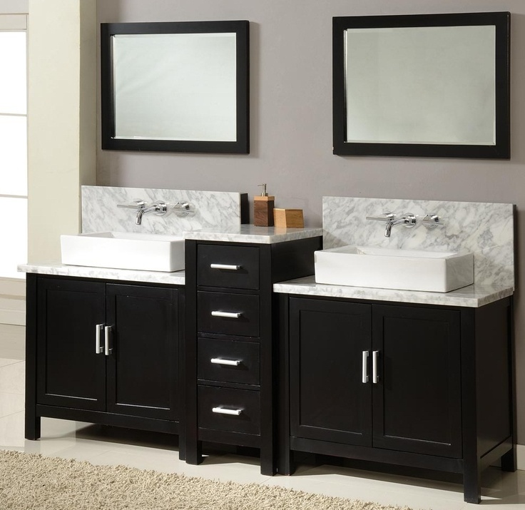 Best Vanity Ideas Images On Pinterest Bathroom Vanities - 63 inch double sink bathroom vanity for bathroom decor ideas