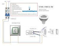 Esquemas eléctricos: Instalación de dicroica 4w LED 60º