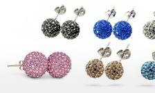 $5 for CZ Crystal Shamballa Earrings from Louna Accessories ($ 30 Value)