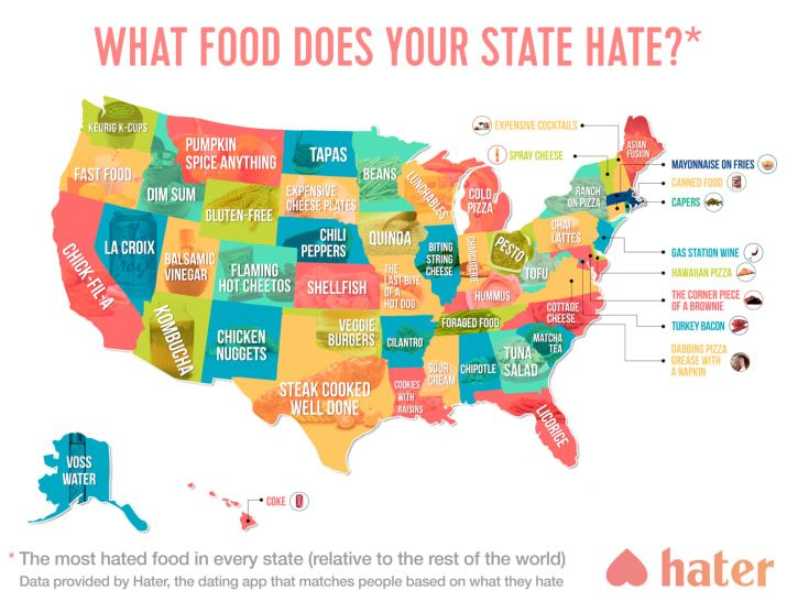Best Maps Images On Pinterest Usa Maps Fun Facts And Funny - The chef in the us map