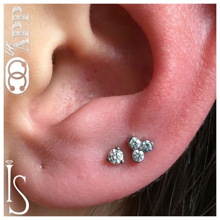 """184 Likes, 4 Comments - Get-Pierced UK 🇬🇧 (@get_pierced) on Instagram: """"Dainty double lobe piercing ft components by @industrialstrength @industrialstrengthuk 👌🏻😎…"""""""