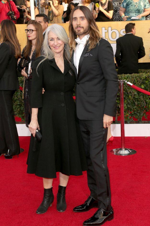 Fashion At The 2014 SAG Awards Red Carpet - Jared Leto z matką Constance