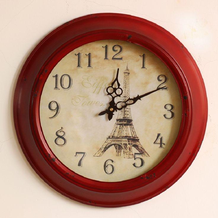 Americano imitação retro ferro forjado relógio de parede relógio de parede europeu mesa mudo criativo sala relógio de parede deco alishoppbrasil