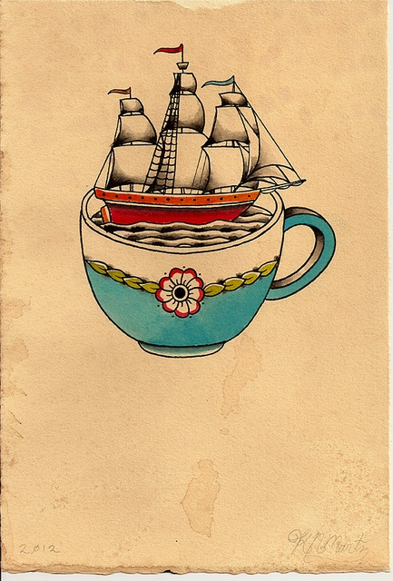 Ship Cup by Kyler Martz  I have this tattooed on me.