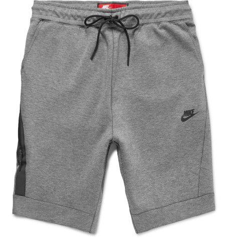 NIKE Cotton-Blend Tech-Fleece Shorts . #nike #cloth #shorts