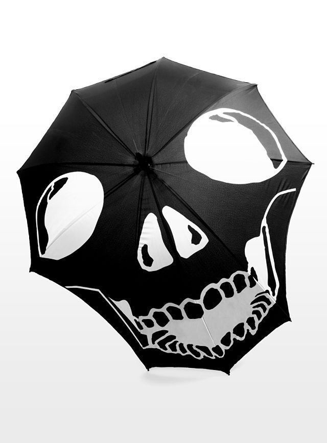Black | 黒 | Kuro | Nero | Noir | Preto | Ebony | Sable | Onyx | Charcoal | Obsidian | Jet | Raven | Color | Texture | Pattern | Styling | Skull Umbrella