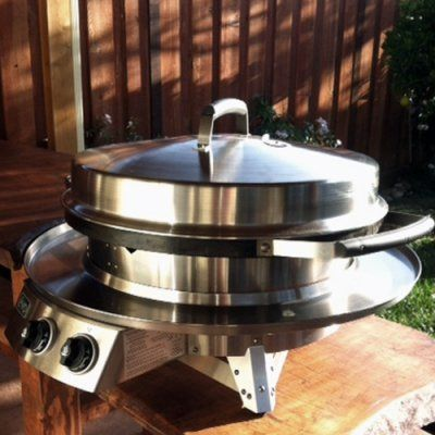 Evo Professional Circular Flattop Tabletop Gas Grill with Optional Ceramic Coating Upgrade - EVOI014-3