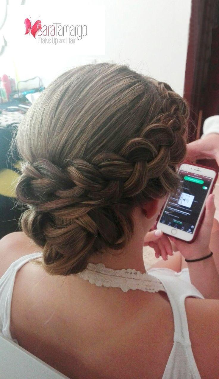 Hermoso peinado para novias o invitadas de boda. Peinados con trenzas recogidos, hechos por nestro equipo http://www.saratamargo.com/ Peinados 2017