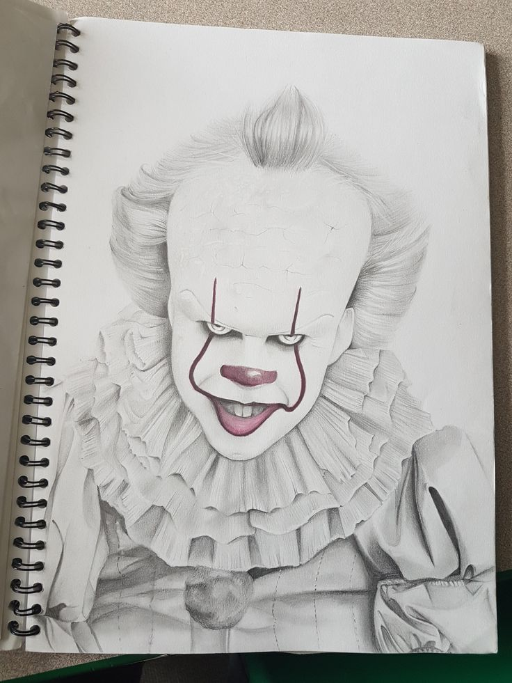 Pennywise George Young pencil 2017 | Visit http://www ...