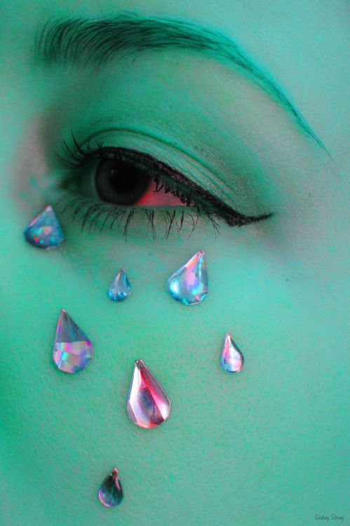 I saved this pin for the,Crystal Tear Drops! not the green face paint.