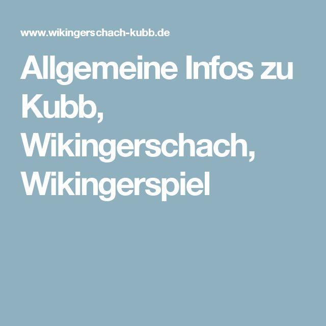 Allgemeine Infos zu Kubb, Wikingerschach, Wikingerspiel