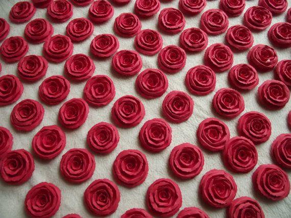 Handmade Wedding Paper Flowers...200 Piece Set by JudeAlyssaMarkus
