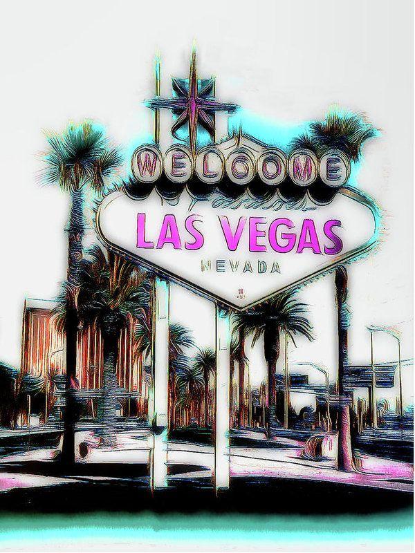 Fabulous Las Vegas Art Print by Leslie Montgomery.