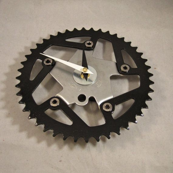 Recycled Vintage GT BMX Bike Chainring Clock