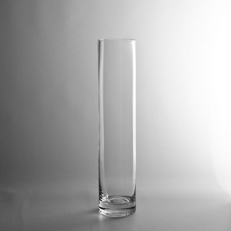 12x2 5 Quot Glass Cylinder Vase 4 60 Pair With 16 Quot And 20