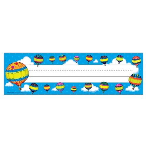 Hot Air Balloons Name Plates, TCR5299