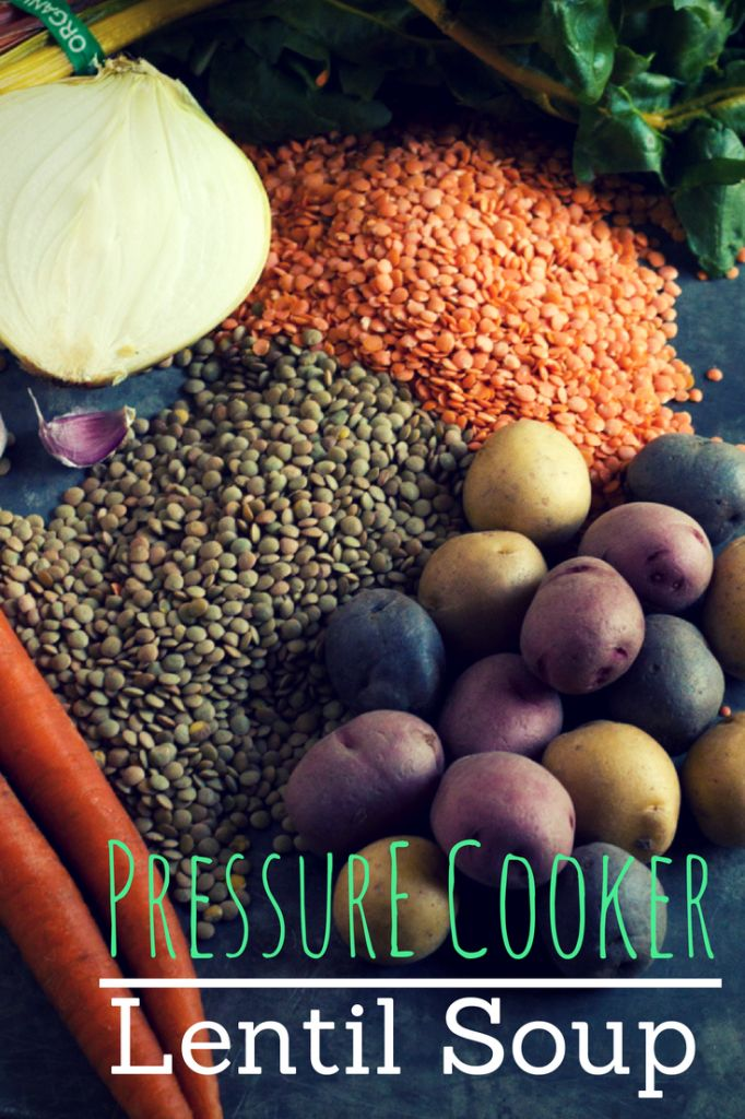 No matter the season, lentil soup is a hearty and filling dinner. Have it on the table in 30 minutes or less using a pressure cooker!