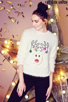 Fashion Union Bauble Reindeer X-Mas Jumper
