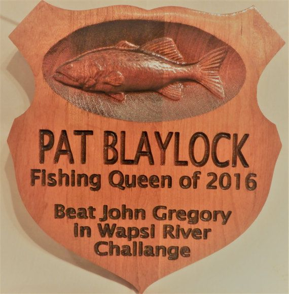 Custom Trophy Plaque 3D/2.5D Fishing.  by CraftedFromNature4U