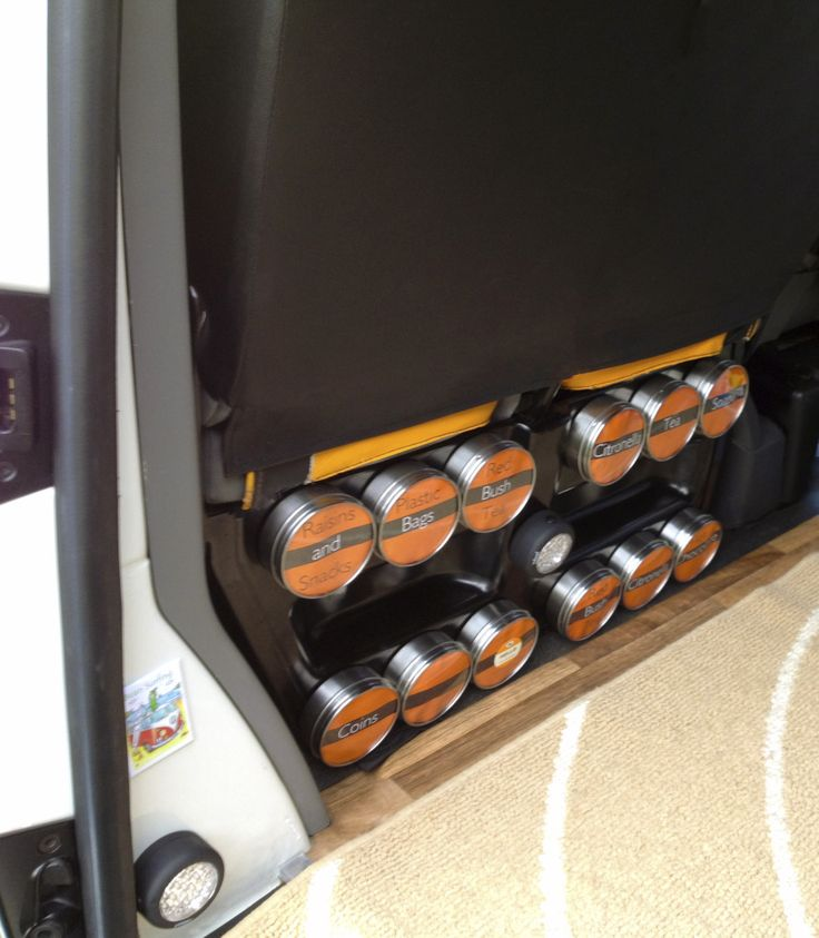 Simple Storage Hack: Magnetic Tins - VW T4 Forum - VW T5 Forum